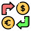 coin, currency, exchange, finance, money exchange icon