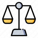 balance, justice, law, scale icon