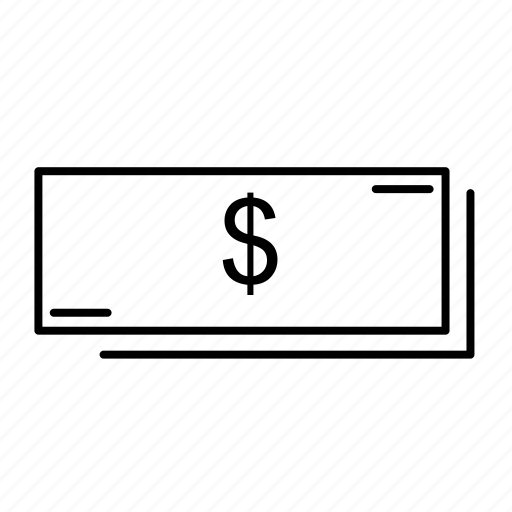 cash, currency, dollar, money, note icon