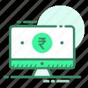 computer, currency, money, rupee