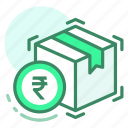 box, currency, delivery, money, rupee