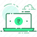 currency, laptop, money, rupee