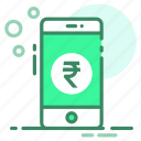 currency, money, phone, rupee icon