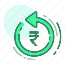 currency, finance, money, refresh, rupee icon