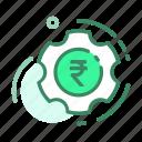 currency, money, rupee, setting, setup