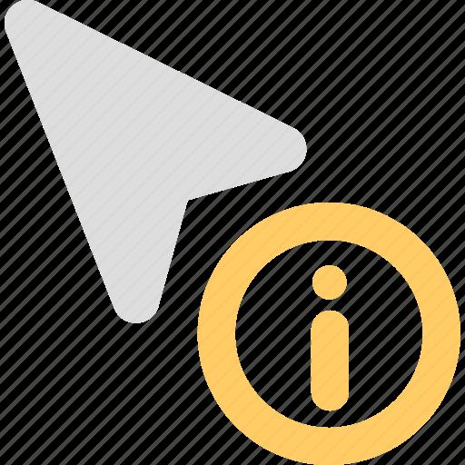 control, cursor, information, mouse, pointer icon