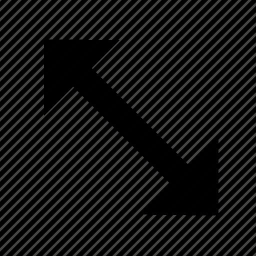 cursor, extend, stretch icon
