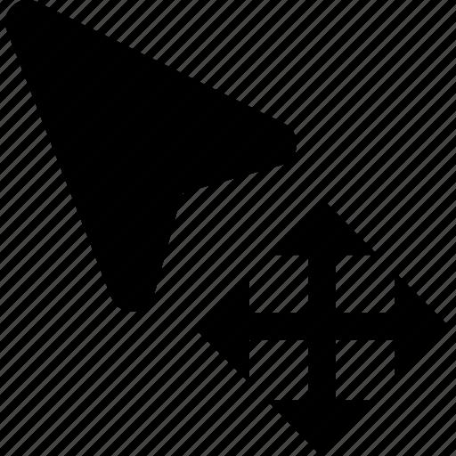 arrow, cursor, drag, drop, move icon