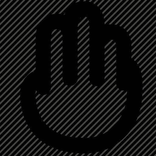 cursor, fingers, hand icon