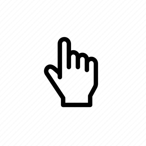 cursor, finger, gesture, hand, point, pointing, tap icon