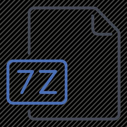 extension, file, format, seven, seven zip, zip icon