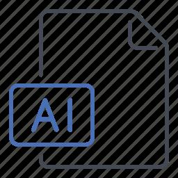 adobe, adobe illustrator, extension, file, format, illustrator icon