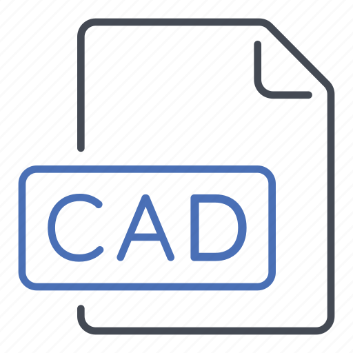 aided, cad, computer, design, extension, file, format icon
