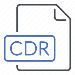 cdr, corel draw, extension, file, format icon