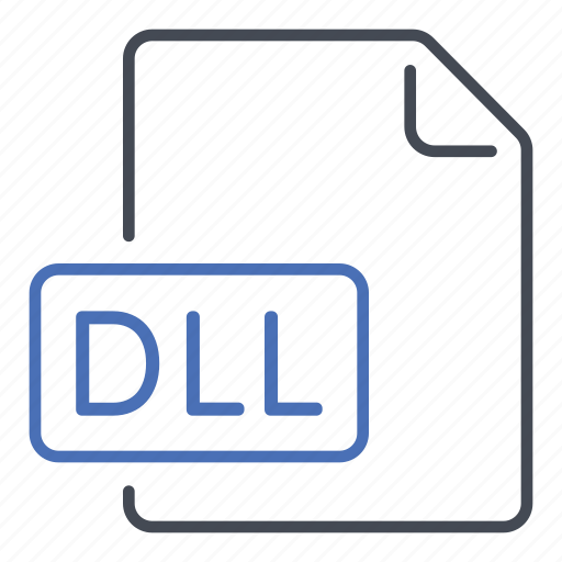 dll, dynamic link library, extension, file, format icon