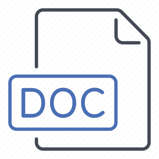 Doc, document, file, word, extension, format icon - Download on Iconfinder