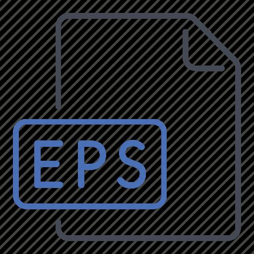 encapsulated postscript, eps, extension, file, format, post, script icon