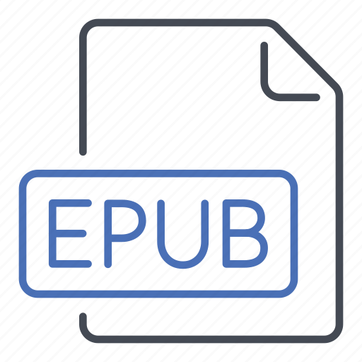 electronic publication, epub, extension, file, format icon