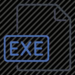 exe, executable, execute, extension, file, format icon