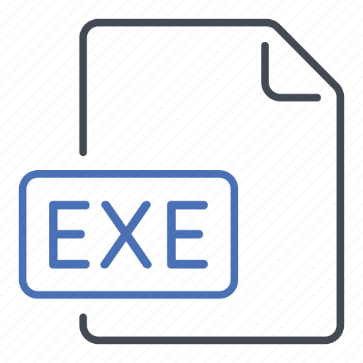 exe, executable, execute, extension, file, format icon
