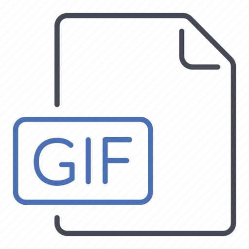 animated, extension, file, format, gif, graphics interchange format icon