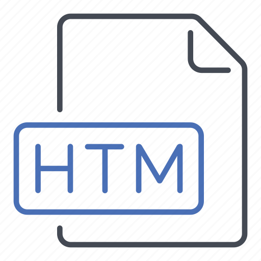 extension, file, format, htm, hypertext markup icon