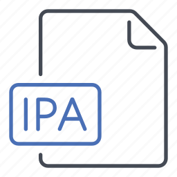 extension, file, format, ipa, iphone application archive icon