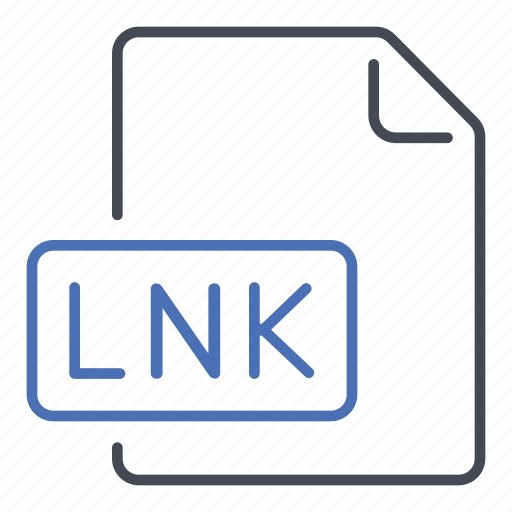 extension, file, format, link, lnk icon
