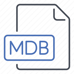 extension, file, format, mdb, microsoft access database icon