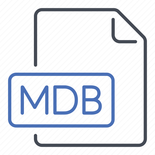 Extension, file, mdb, microsoft access database, format icon - Download on Iconfinder