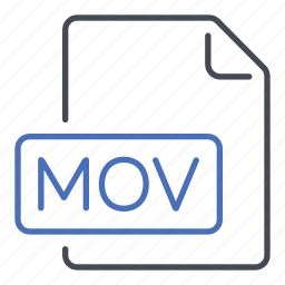 extension, file, film, format, mov, movie icon