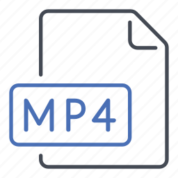 extension, file, format, movie, mp4 icon