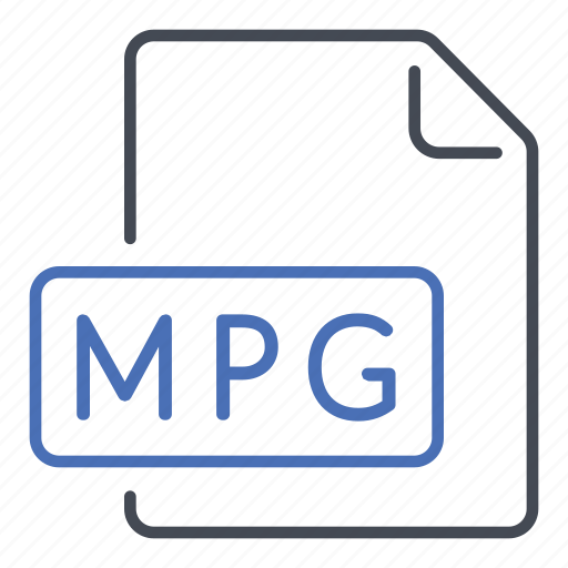 extension, file, format, mpg icon