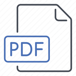 adobe, extension, file, format, pdf, portable document file, reader icon