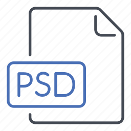 extension, file, format, photoshop document, psd icon