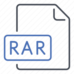 compressed, extension, file, format, rar, roshal archive compressed icon