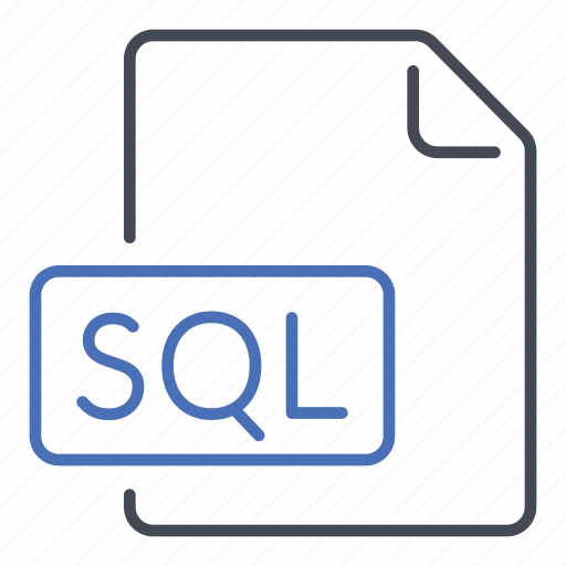 extension, file, format, sql, structured query language icon