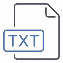 extension, file, format, text, txt icon