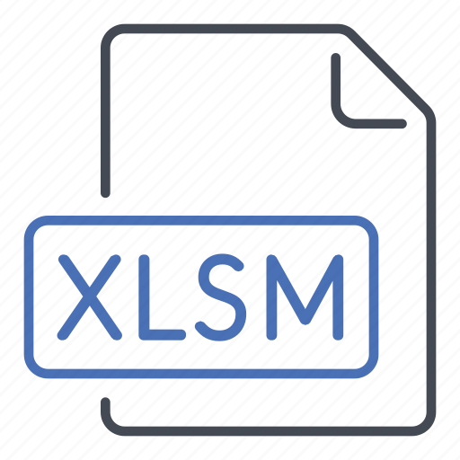 excel, extension, file, format, macro, xlsm icon