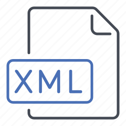extensible markup language, extension, file, format, xml icon