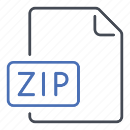 compressed, extension, file, format, zip icon