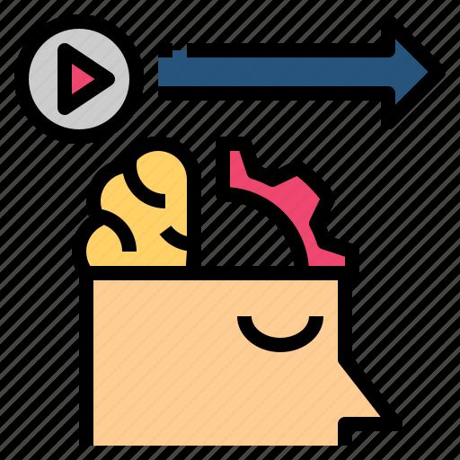 action, behavior, forecast, management, predict icon