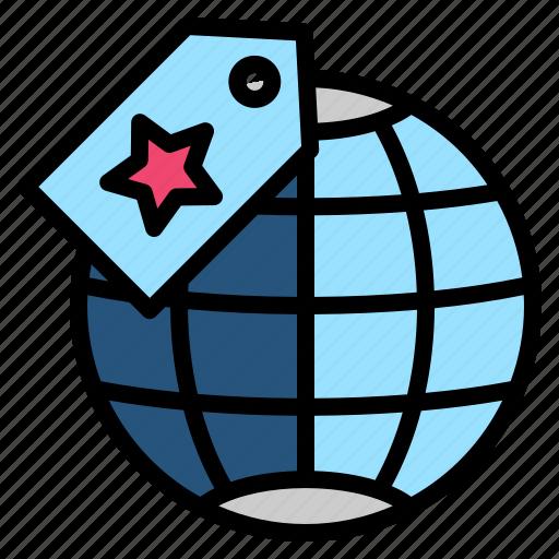 brand, manner, marketing, trademark, worldwide icon