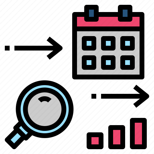 data, forecast, long, research, term icon