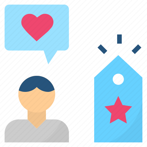 brand, engagement, impression, like, loyalty icon