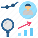 analysis, measurable, research, statistic, study icon
