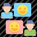 customer happiness, customer relationship, happy customers icon