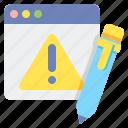 bug report, error, error report, report icon
