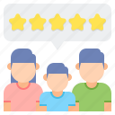 feedback, group feedback, group review, rating, review, testimonial icon