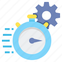 loading time, processing time, response time icon